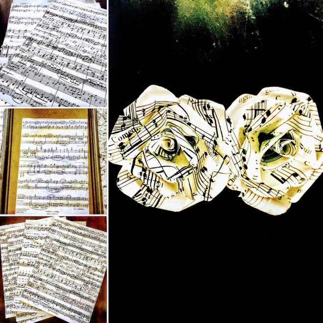 Making of the paper roses