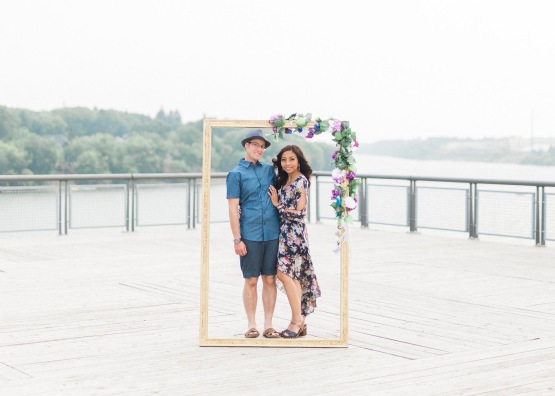 An engagement photo shoot prop project that is very unique.
