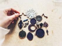 Various metal charms