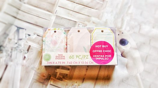 "3"" x 4.75"" tags with gold foil accents, Hot buy, Craftsmith 60 pc tags, 7.62cm x 12.06cm tags, feminine and floral themed tags, pink tags, violet tags, summer gift tags"