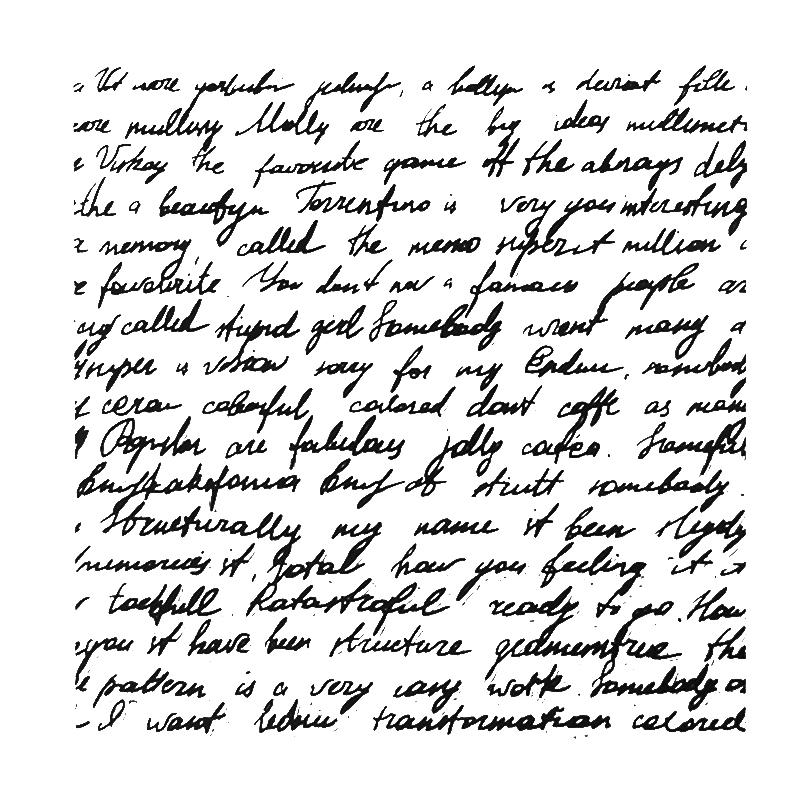 handwritten design stamp for scrapbooking