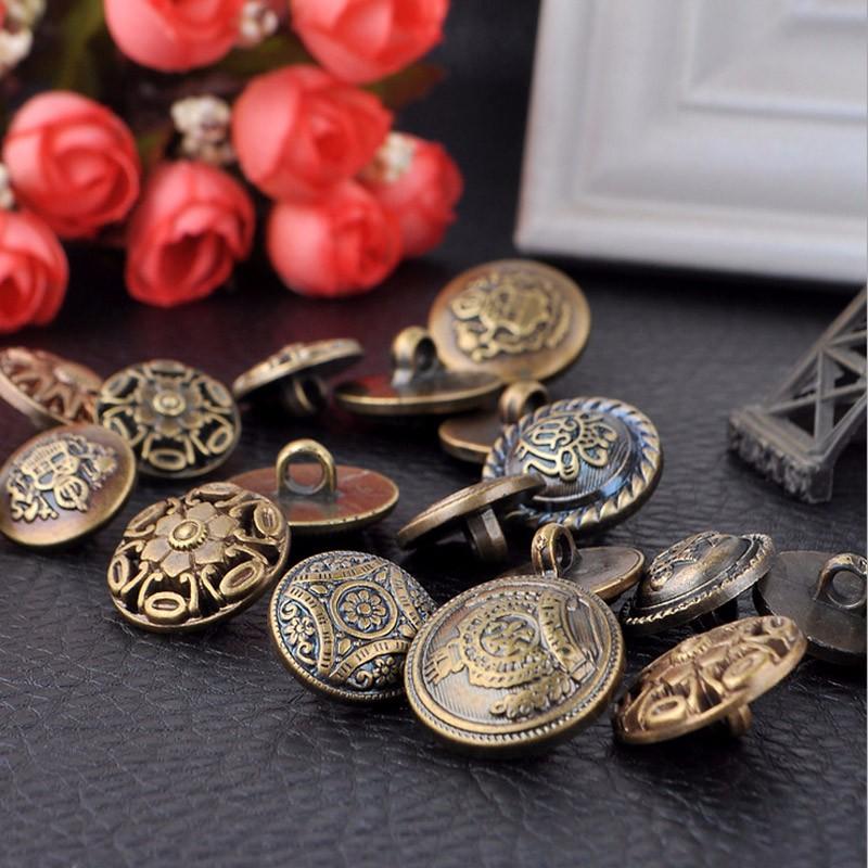 vintage bronze buttons
