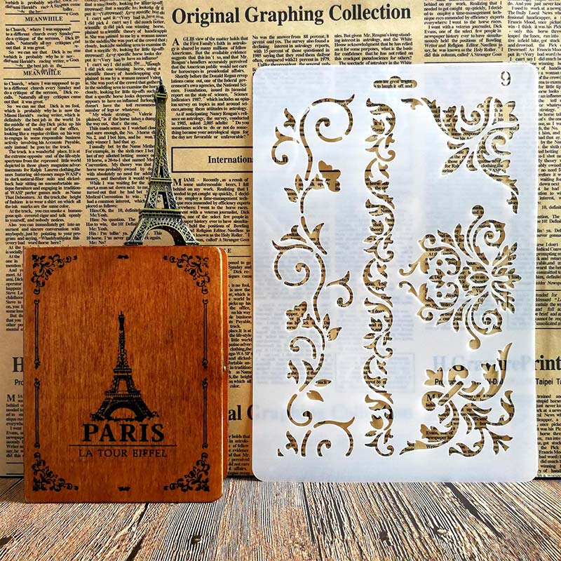 Lace Corner Decoration Stencils for DIY Scrapbooking, Plastic Handmade Template Crafts, Art Diary Decor, Painting Spray Tool Card from AliExpress