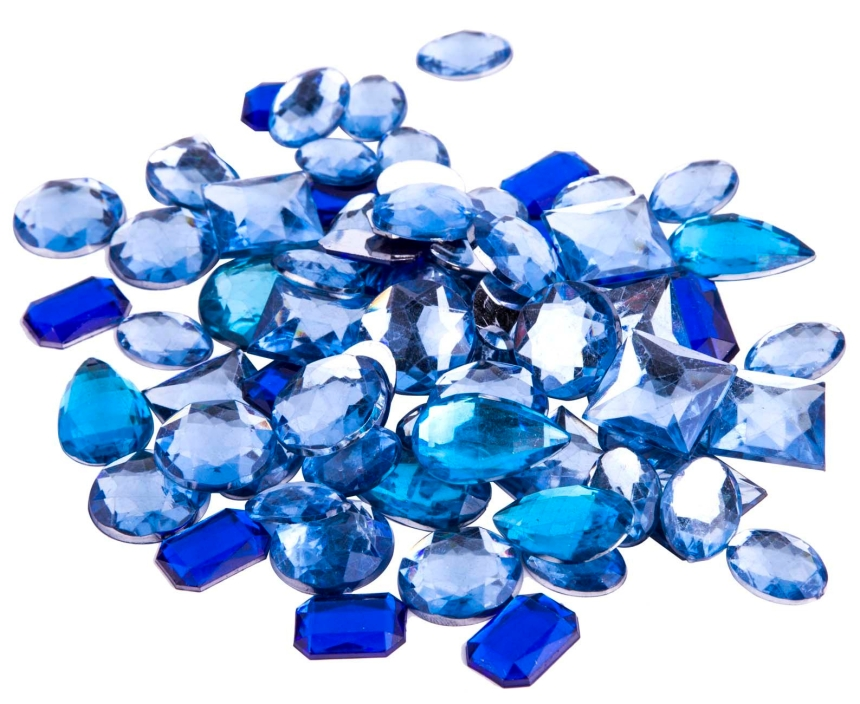 blue acrylic gems, blue flat bed gems, michaels acrylic gems, acrylic gems for mixed media art, embellishments for mixed media art