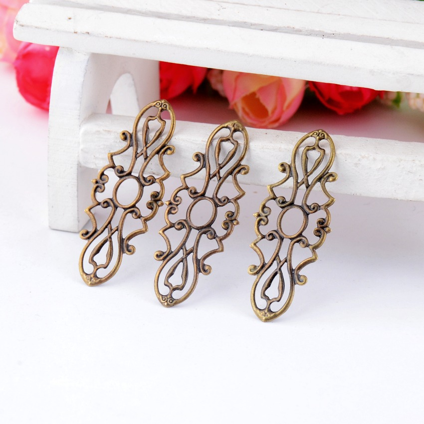 20Pcs-Antique-Bronze-Filigree-Wraps-Connectors-Metal-Crafts from AliExpress, where to buy vintage metal embellishments that are cheaper