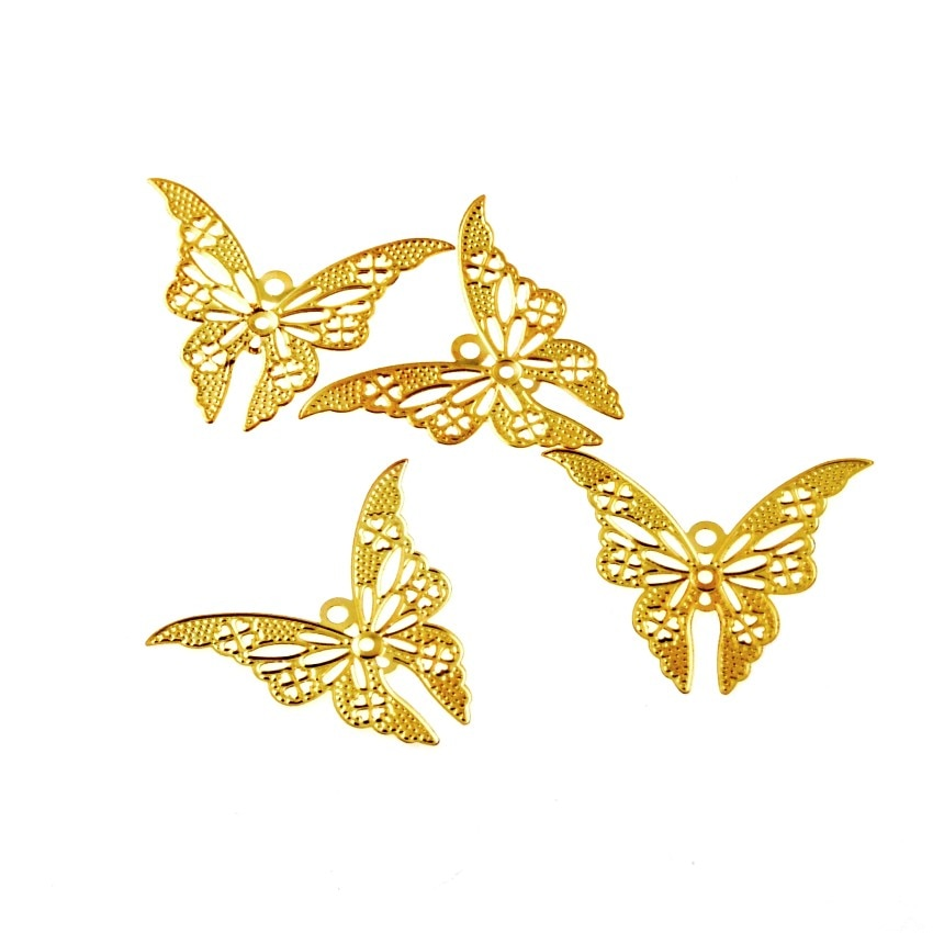 Free-shipping-30Pcs-Gold-Tone-Butterfly-Filigree from AliExpress, where to buy cheaper metal embellishments for mixed media art