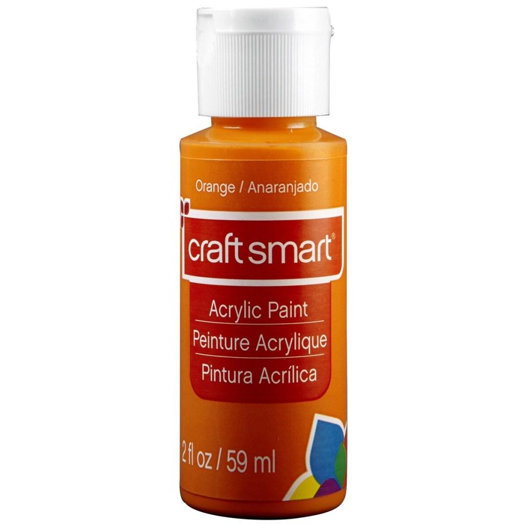 CRAFT SMART® ACRYLIC PAINT 2 oz Orange for mixed media project