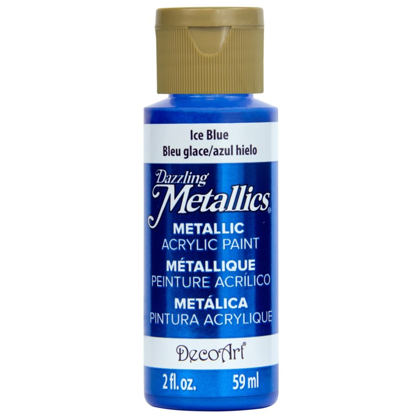 metallic acrylic blue paint for mixed media art