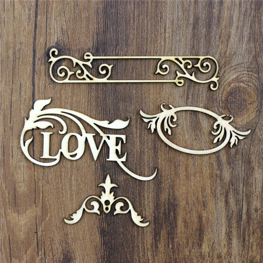 love sentiment for mixed media art, where to buy vintage wooden embellishment for mixed media art, embellishments from aliexpress