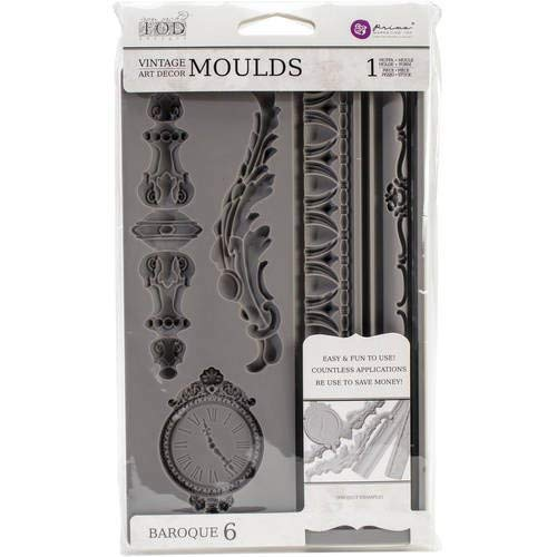 Moulds for doing your own vintage embellishment, how to make vintage embellishments with Prima IOD Mould, Vintage Clock, Vintage frame design