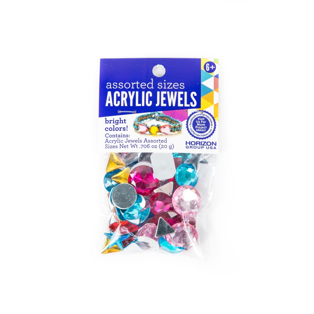 Acrylic flatbed gems from Walmart, acrylic gem embellishment for a mixed media art project