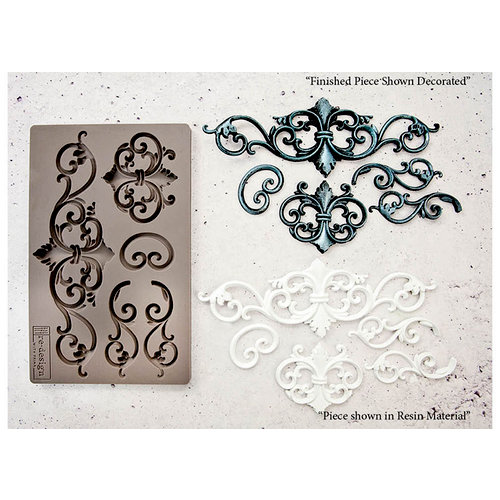 Vintage swirl mould design from Prima Marketing, make your own vintage embellishment for mixed media art projects