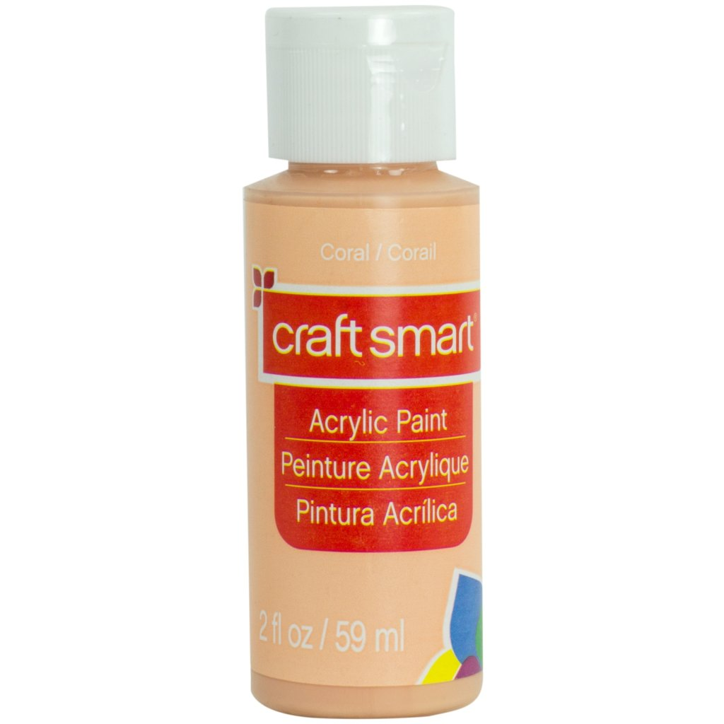 Coral / Corail craft smart Acrylic Paint Peinture Acrylique Pintura Acrilica 2 fl oz / 59 ml