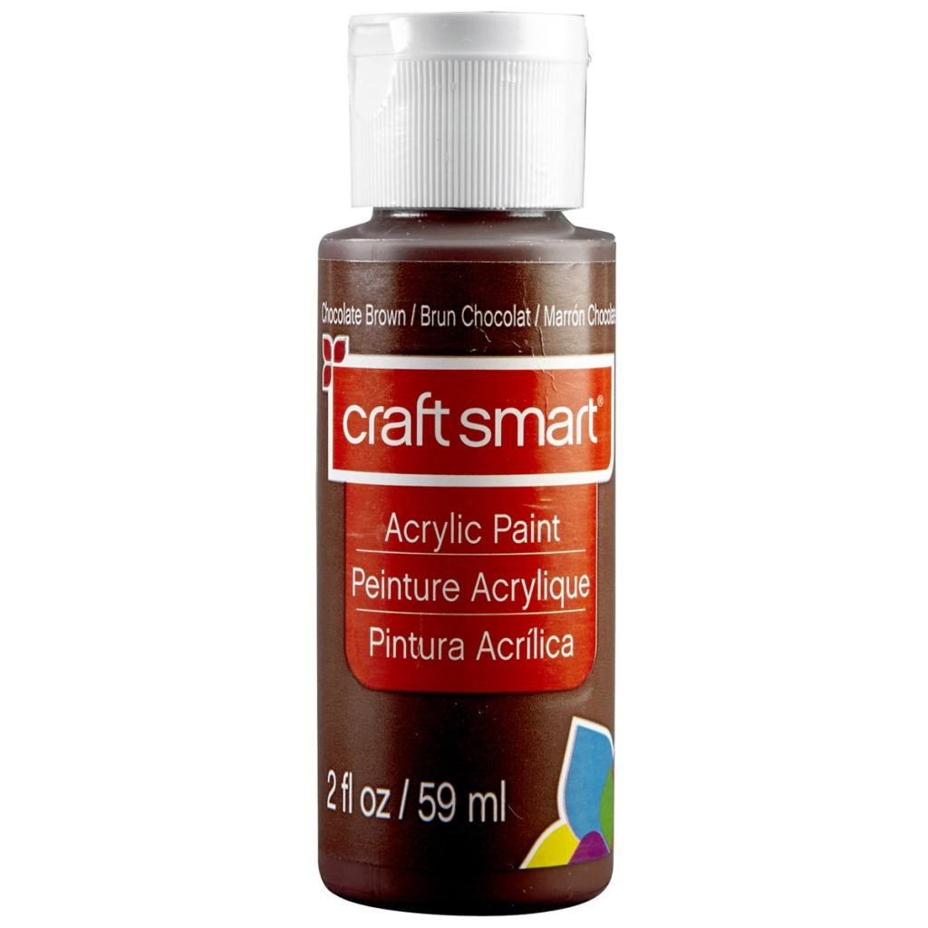 Chocolate Brown / Brun Chocolat craft smart Acrylic Paint Peinture Acrylique Pintura Acrilica craft smart