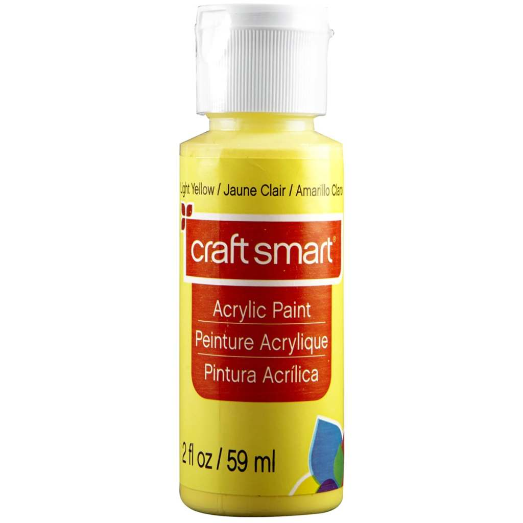 Light Yellow / Jaune Clair / Amarillo Claro craft smart Acrylic Paint 2 fl oz 59 ml