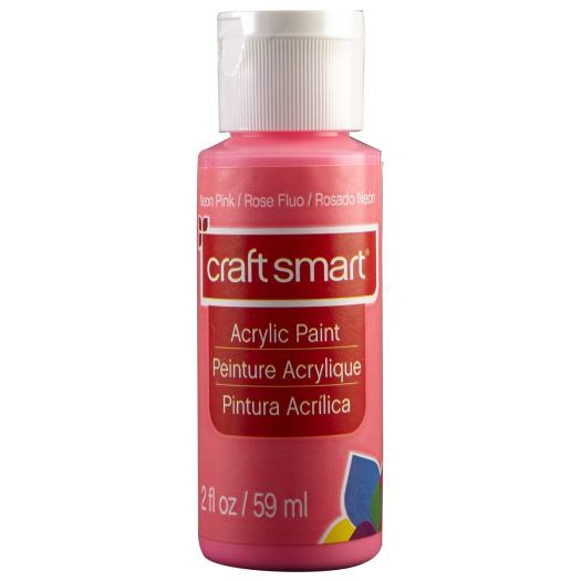 Neon Pink / Rose Fluo / Rosado Neon craft smart Acrylic Paint Peinture Acrylique Pintura Acrilica 2 fl oz 59 ml craft smart