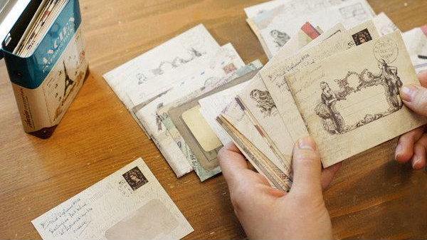 vintage mini envelopes