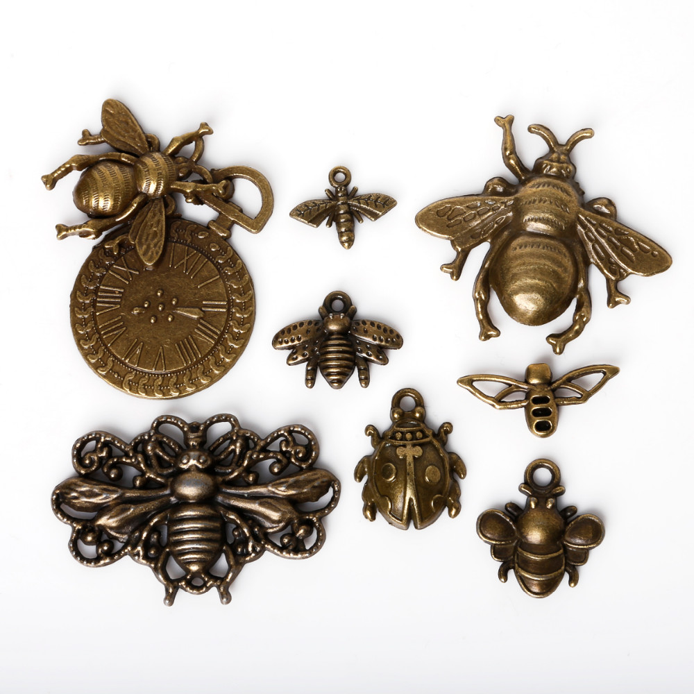 AliExpress metal insects and beetles embellishments bronze embellishments