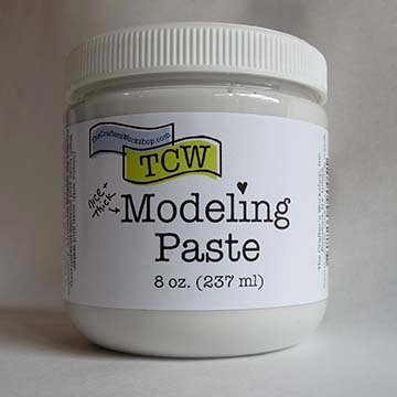 Modeling paste for mixed media art