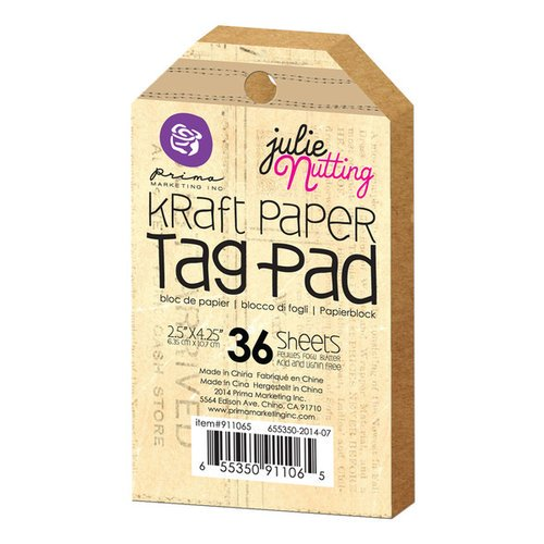 kraft paper tag prima marketing julie nutting brown blank tags item no. 911065