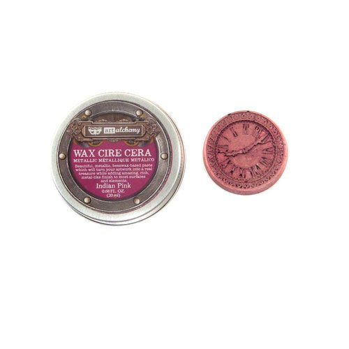 red violet metallic wax paint