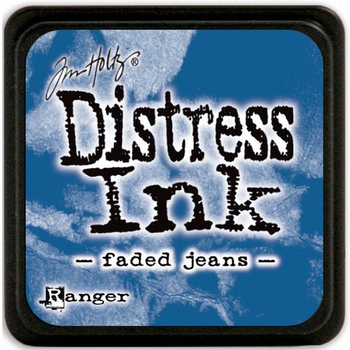 Tim Holtz Distress ink faded jeans Ranger